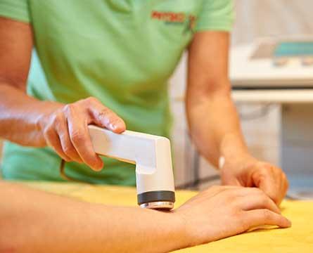 Elektrobehandlung in der Seiwald Physiotherapie