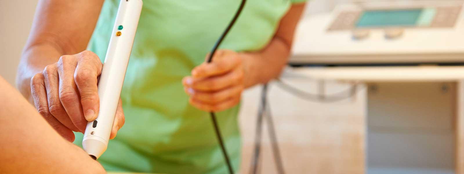 Lasertherapie Elektrobehandlung